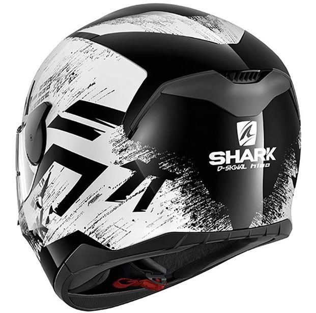 Capacete Shark D-Skwal Hiwo KWK Branco/Preto  - Manolo Motos