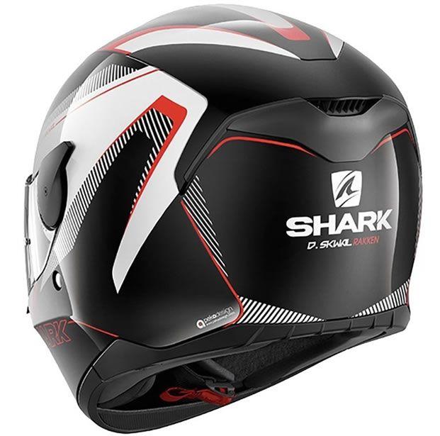 Capacete Shark D-Skwal Rakken KWR Preto/Branco  - Manolo Motos