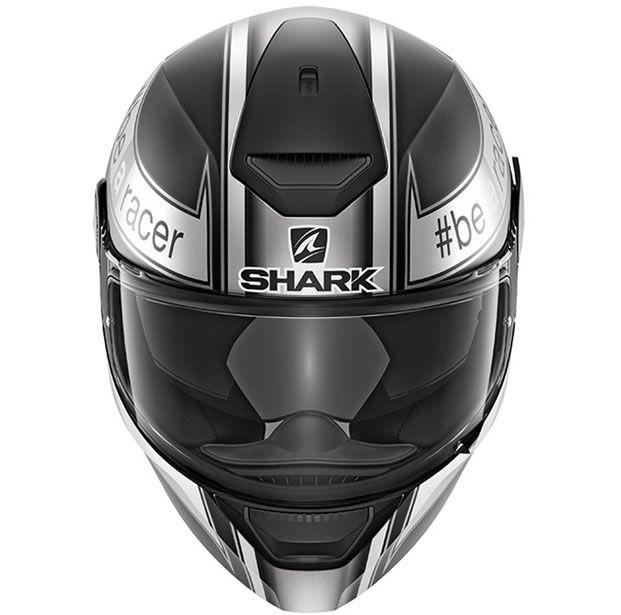 Capacete Shark D-Skwal Sam Lowes Matt KAW Preto Fosco/Cinza  - Manolo Motos