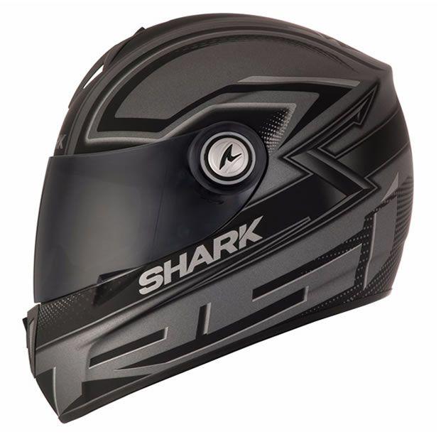 Capacete Shark RSI S2 Splinter Matt SSK Preto Fosco/Cinza  - Manolo Motos