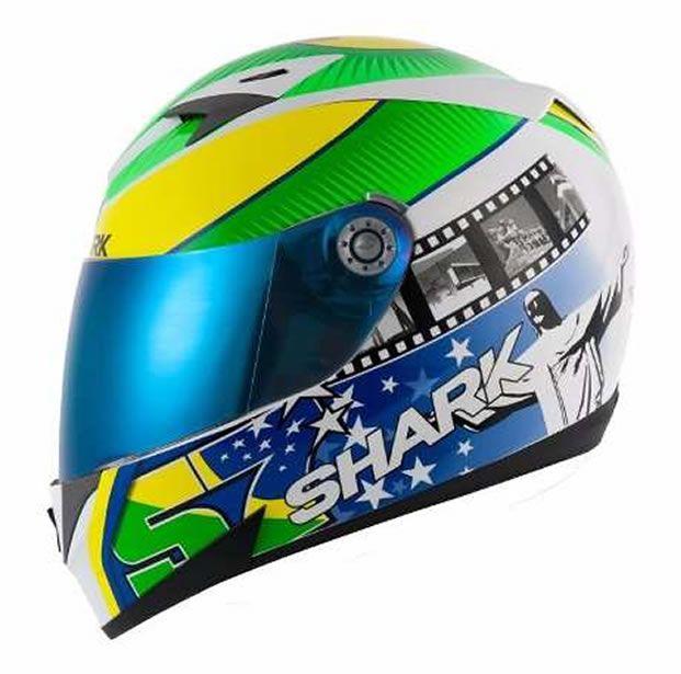 Capacete Shark S700 Réplica Eric Granado + Brinde Viseira Fumê  - Manolo Motos