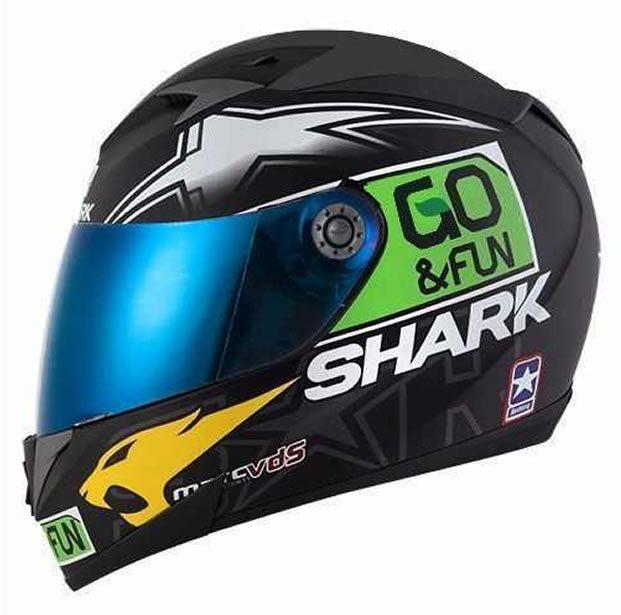 Capacete Shark S700 Réplica Scott Redding Valencia KGY + Brinde Viseira Fumê  - Manolo Motos