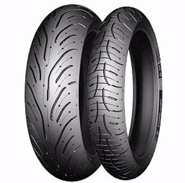Casal de Pneus Michelin Road 4 120/70-17 + 180/55-17  - Manolo Motos