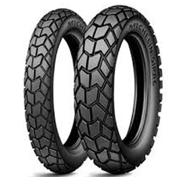 Casal de Pneus Michelin Sirac 90/90-19 / 110/90-17  - Manolo Motos