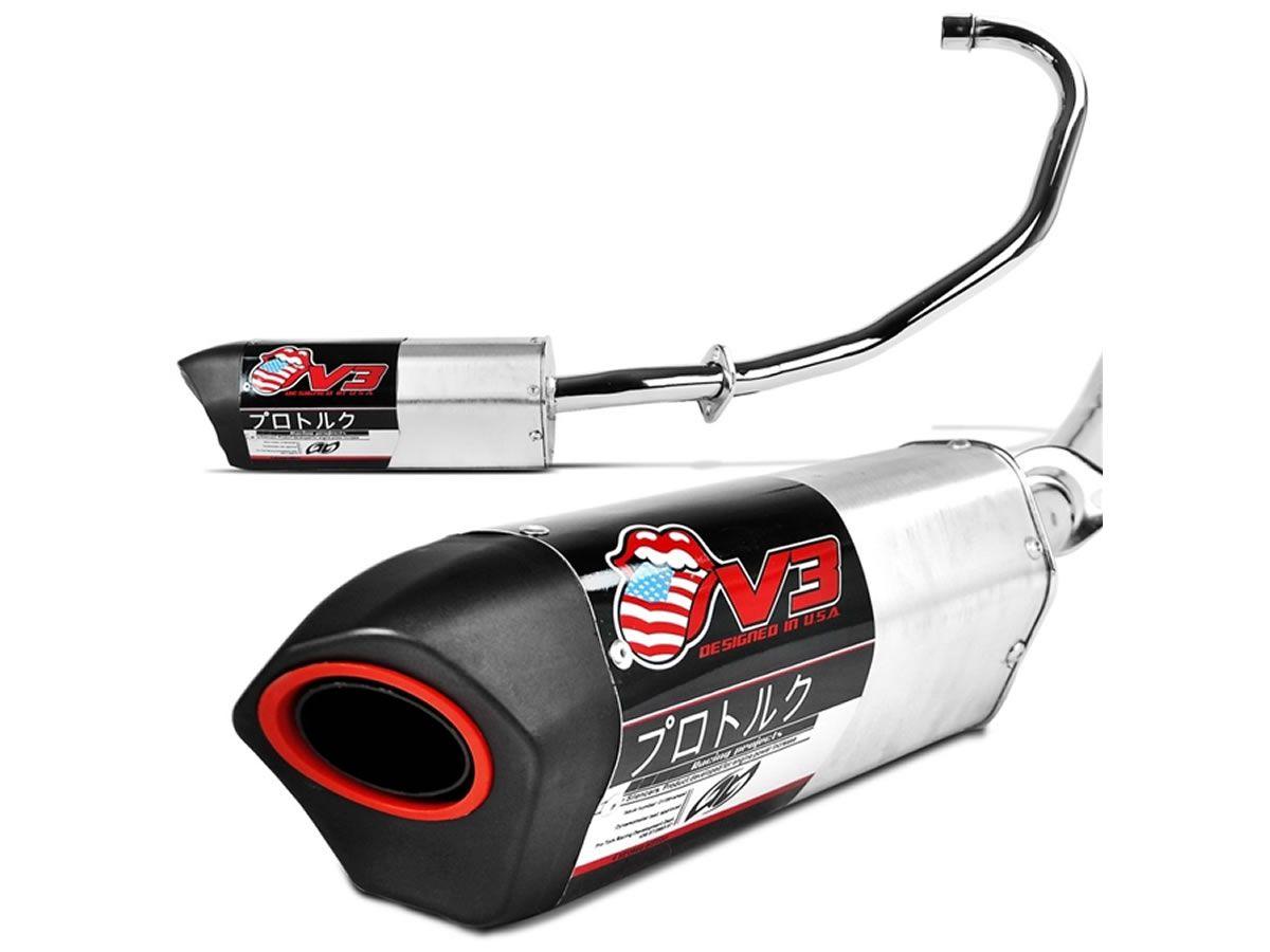 Escapamento Pro-Tork V3 Titan 150 ESD 2004 a 2008  - Manolo Motos