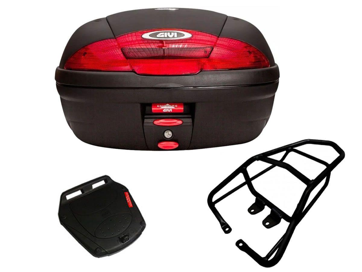 Baú E450N + bagageiro GIVI CG 150 fan / CG 160 Fan/Start   - Manolo Motos