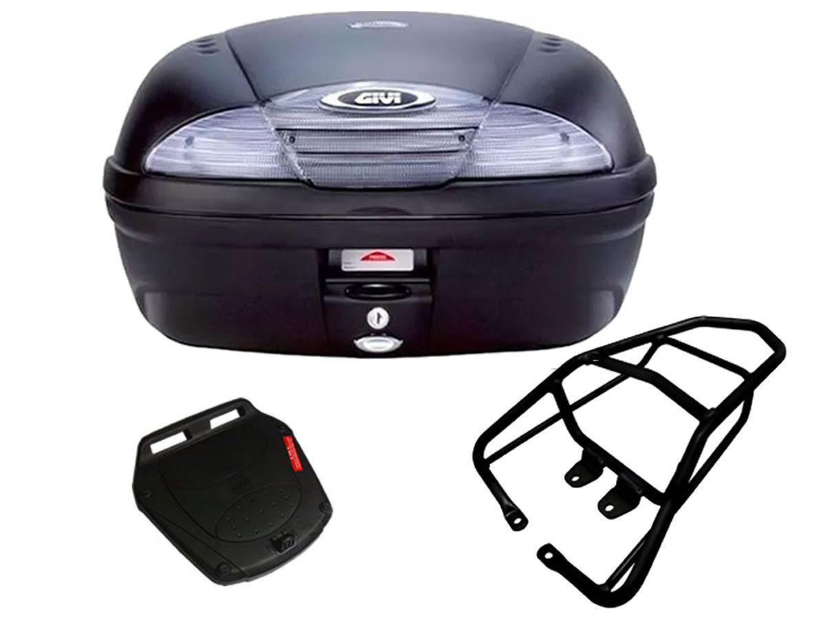Baú E450NT + bagageiro GIVI CG Titan 150/ CG 125 FAN 2009 a 2013  - Manolo Motos