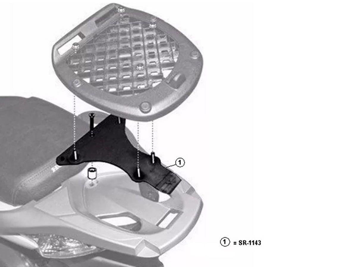 Baú E450NT + bagageiro GIVI SH 300I  - Manolo Motos