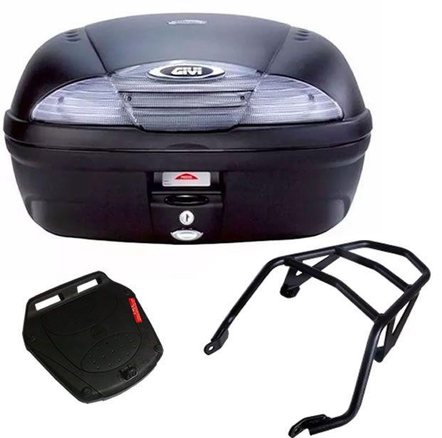 Baú E450NT + bagageiro GIVI XTZ 125 2003 a 2016  - Manolo Motos