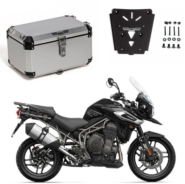 KIT Bauleto Central Braz Atacama 55L Escovado + Base para Tiger 1200