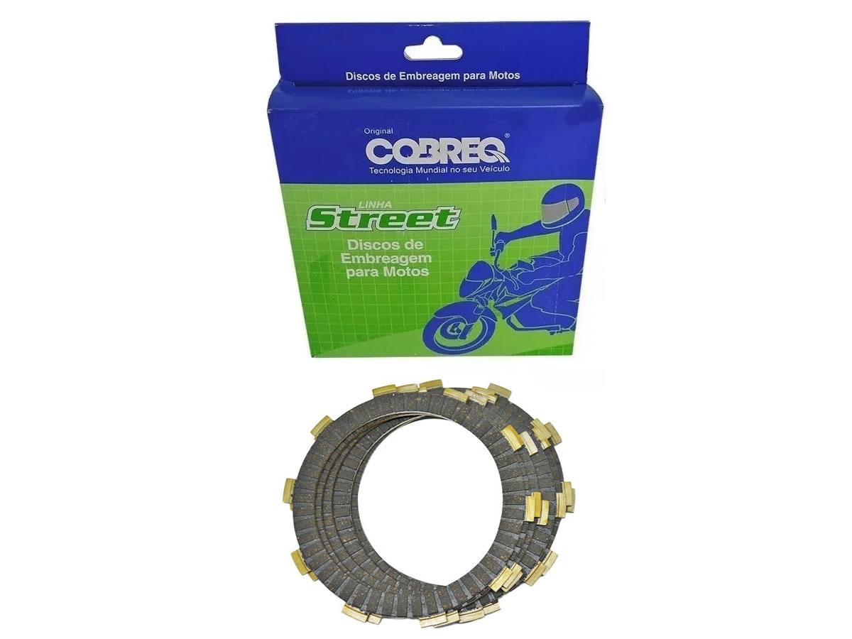 Kit Disco de Embreagem Cobreq NX 200 / XR 200 / CBX 200 Strada  - Manolo Motos