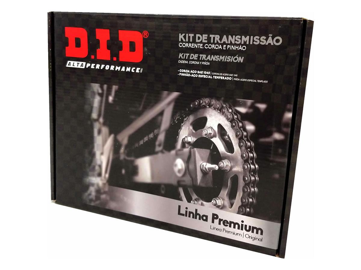 Kit relação DID completo premium sem retentor YBR 125 / Factor 125  - Manolo Motos