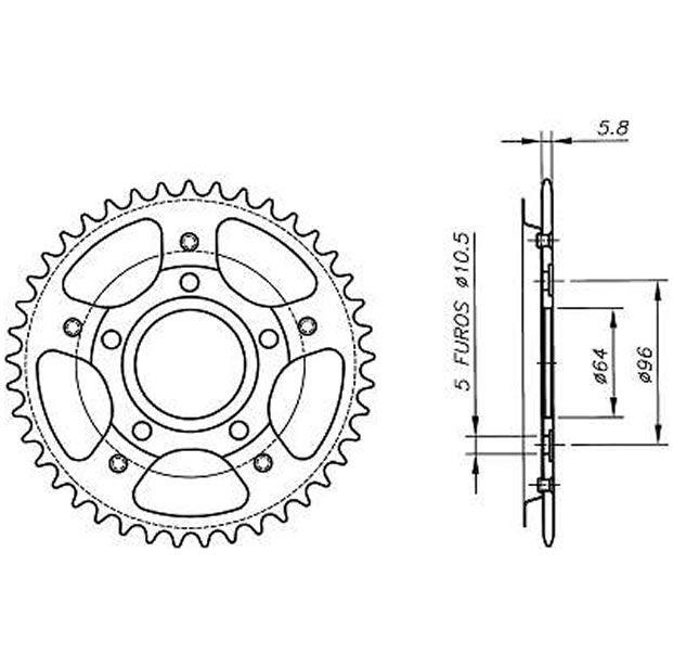 Kit relação Vaz completo Xtreme Sem Retentor CBX 200 Strada  - Manolo Motos