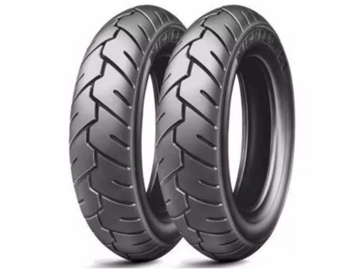 Par de Pneus Michelin Dianteiro / Traseiro S1 3.50-10 (59J)