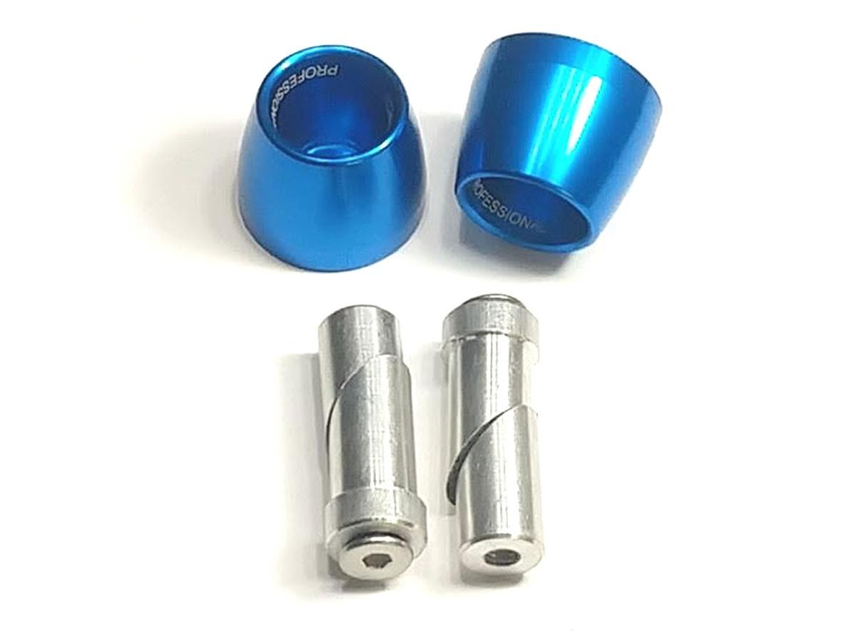 Peso de guidão Oxxy Alumínio Cone (Azul)  - Manolo Motos
