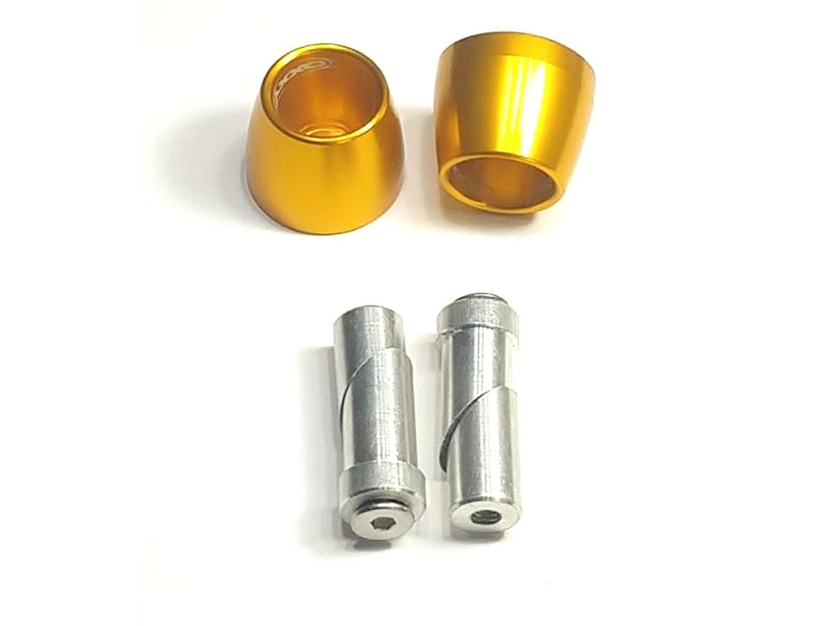 Peso de guidão Oxxy Alumínio Cone (Dourado)  - Manolo Motos