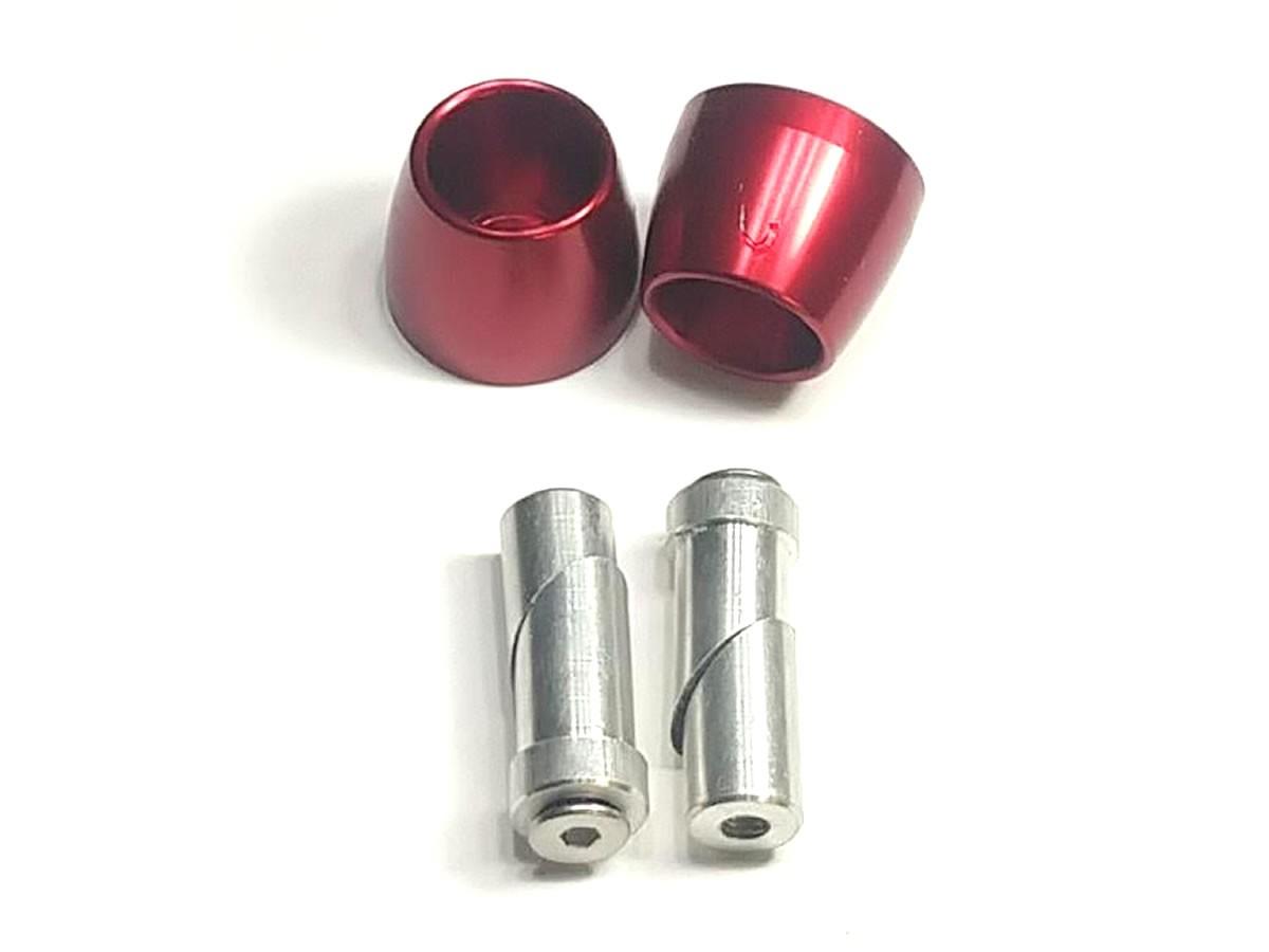 Peso de guidão Oxxy Alumínio Cone (Vermelho)  - Manolo Motos