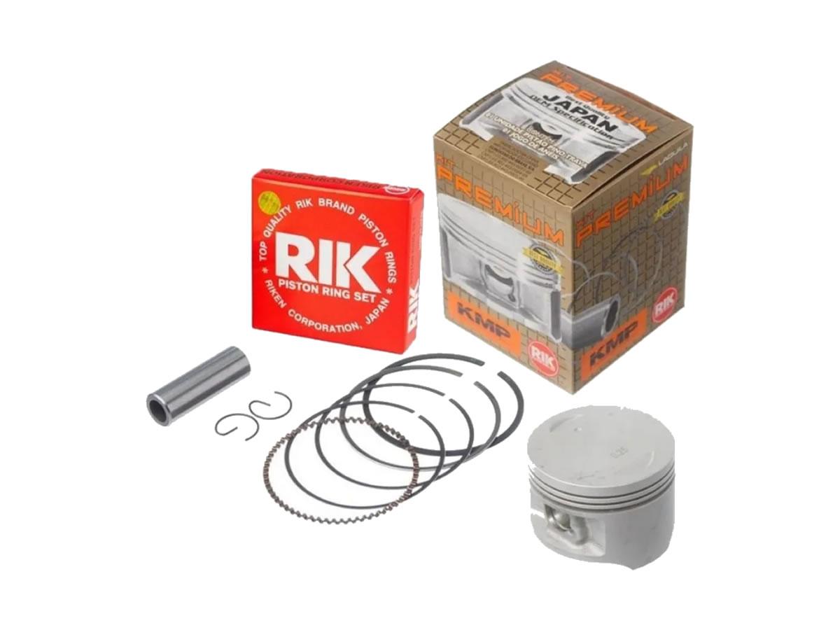 Pistão motor KMP com anel RIK BIZ 125 (2.00)  - Manolo Motos