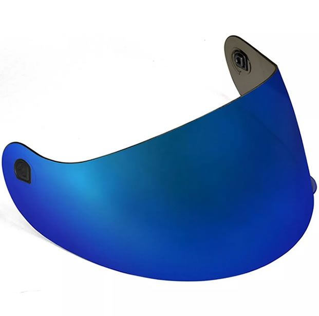 Viseira Peels Capacete Spike Azul Metalizada