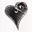078 - Coração Estilo riscado  - SCRAP GOODIES