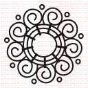 132 - Flor - Mandala gde  - SCRAP GOODIES