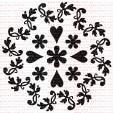 133 - Mandalinha com flores e corações  - SCRAP GOODIES