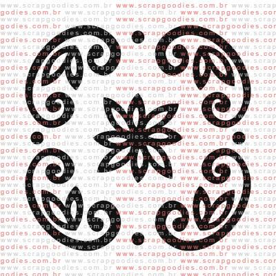136 - Mandala de canto  - SCRAP GOODIES