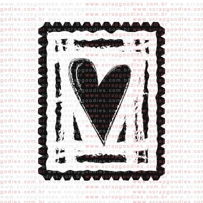 161 - Selo coração grande  - SCRAP GOODIES