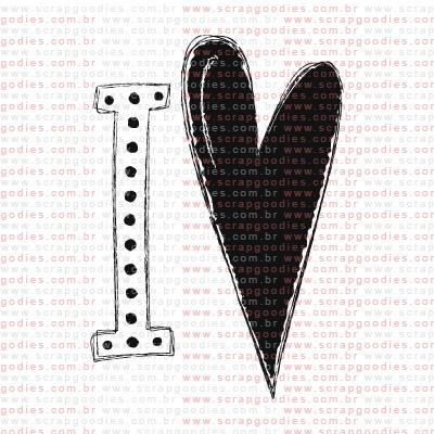 169 - I coração freestyle  - SCRAP GOODIES