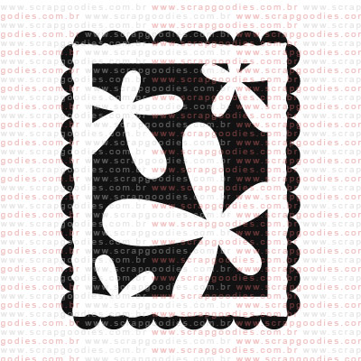 137 - Selo pequeno flores  - SCRAP GOODIES