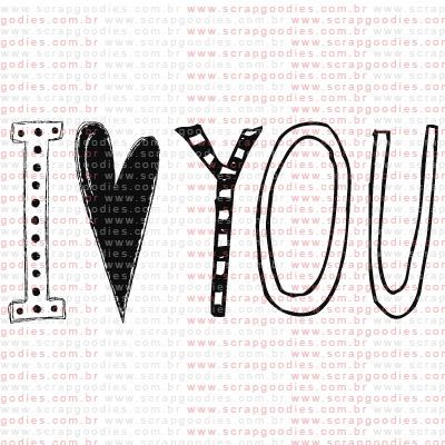 226 - I love YOU  - SCRAP GOODIES