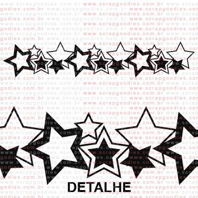231 - Barra de estrelas  - SCRAP GOODIES