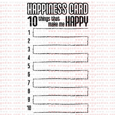 263 - Happiness Card  - SCRAP GOODIES