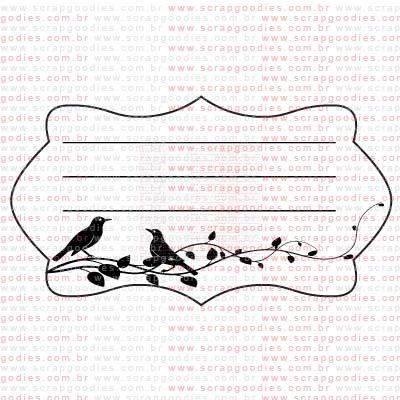 257 - Journaling com passarinhos  - SCRAP GOODIES
