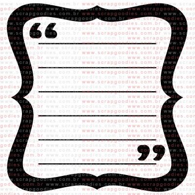 281 - Journaling com aspas  - SCRAP GOODIES