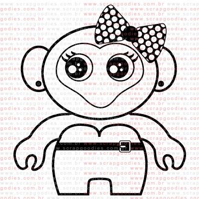 299 - Toy art by Lu Ilarri com laço  - SCRAP GOODIES