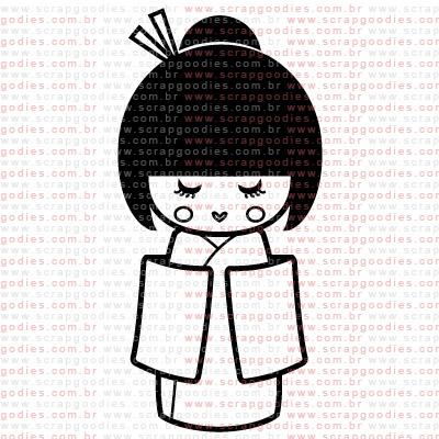 295 - Japonesa by Lu Ilarri - kimono  - SCRAP GOODIES