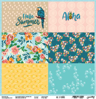 PP166 - Aloha  - SCRAP GOODIES
