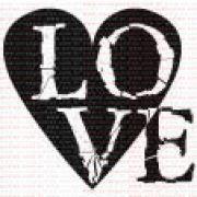 042 - Coração LOVE