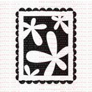 137 - Selo pequeno flores