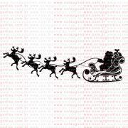 208 - Trenó com renas e Papai Noel