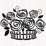 370 - Cesta com Flores