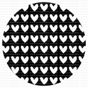 513 - Fundo circular corações