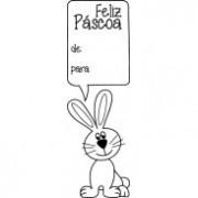 543 - Carimbo Páscoa - De: Para: com coelho