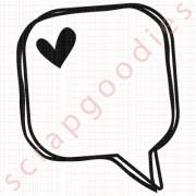 549 - Balãozinho quadrado com coração