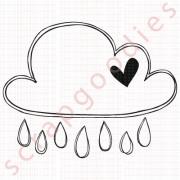550 - Nuvem chuva com coração