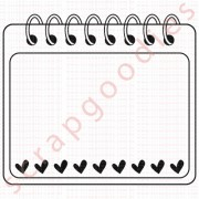 553 - Bloco anotações com corações