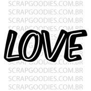 583 - LOVE com linha branca