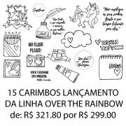 Kit carimbos - 15 carimbos OVER THE RAINBOW