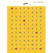 ADESIVO ALFABETO - Amarelo